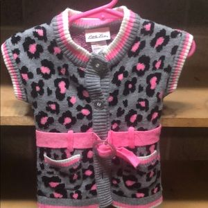 Baby Girl Cheetah Belted Sweater 12M